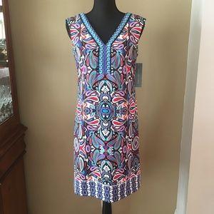 London Times Multi-Color Sleeveless Dress Womens 6